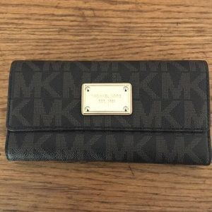 Authentic Michael Kors monogram wallet